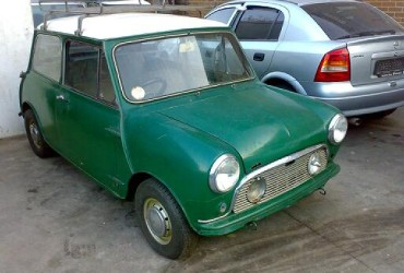 Almond Green Austin Cooper S project